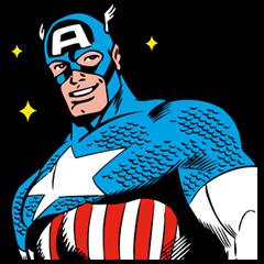 Line スタンプ「marvel ヒーローズ」 スタンプサンプル画像 アプリ学園